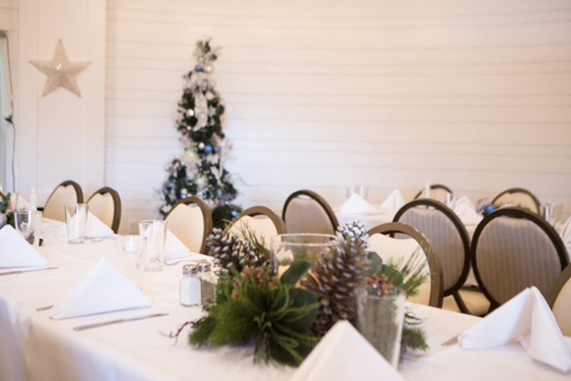 Upper Silo Banquet Room - Christmas themed event room