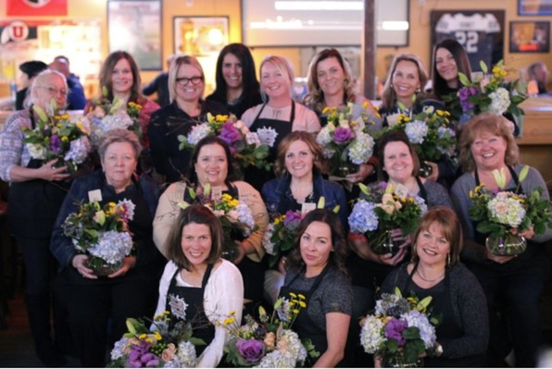 Simply Flowers at Gardner Village - Floral Design Class
