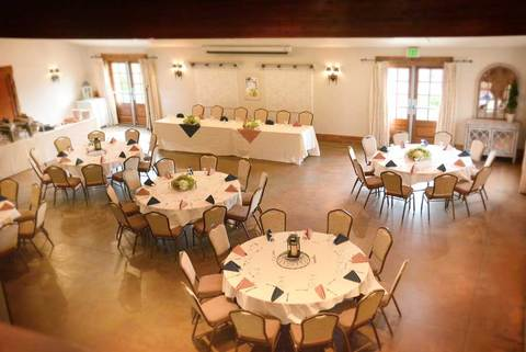 The Gathering Place Weddings & Receptions - Wedding Dinner Setup