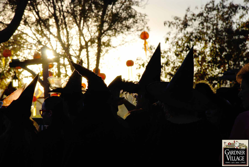 Witches along the Gardner Village paths-
