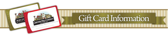 gift cards at Gardner Village