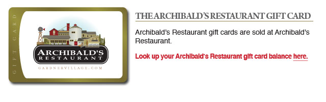 Archibalds gift cards