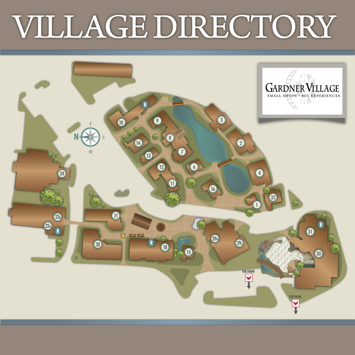 gardner village shop map