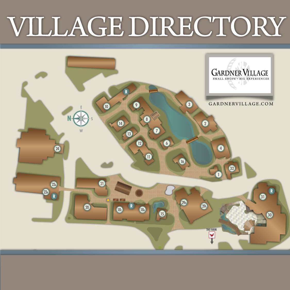 gardner village property map