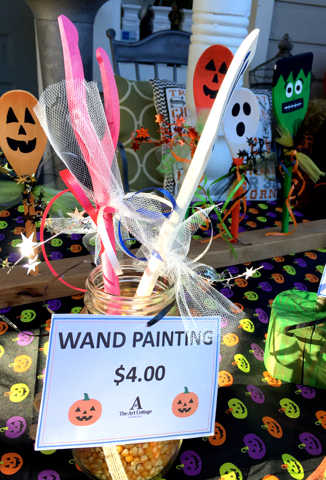 halloween make and take wooden spoon wands
