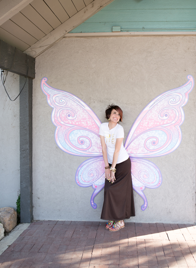 fairy wings backdrop