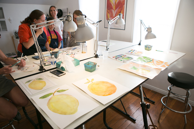 watercolor classes at The Art Cottage
