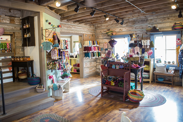 yarn store at gardner village