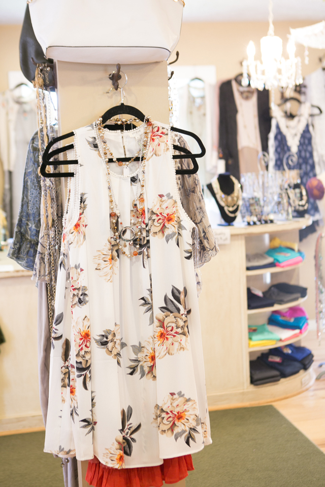 floral top at Plum Dandy