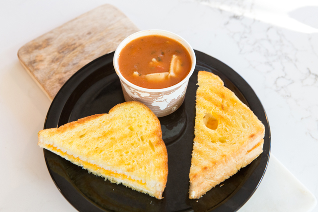 comfort food grilled cheese and tomato soup