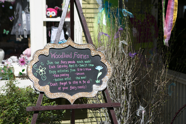 fairy parades at Gardner Village